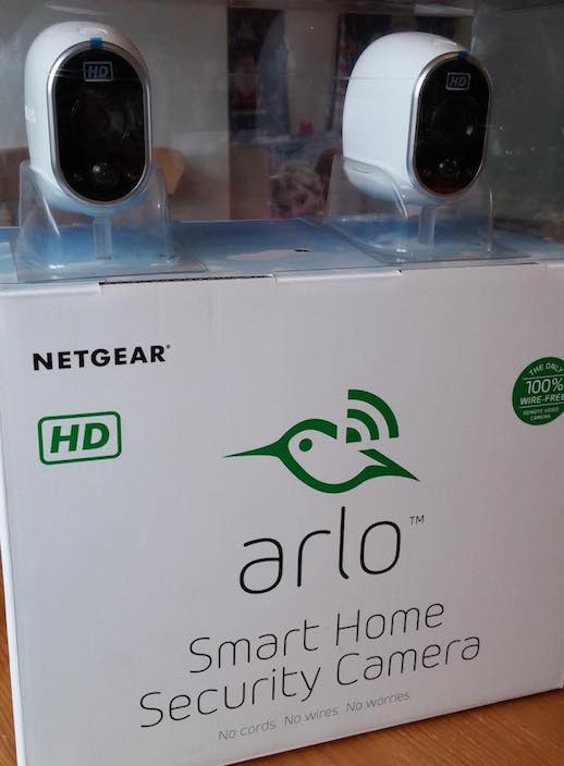 arlo smart home security camera boxed
