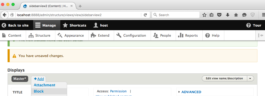 add drupal 8 view step 12