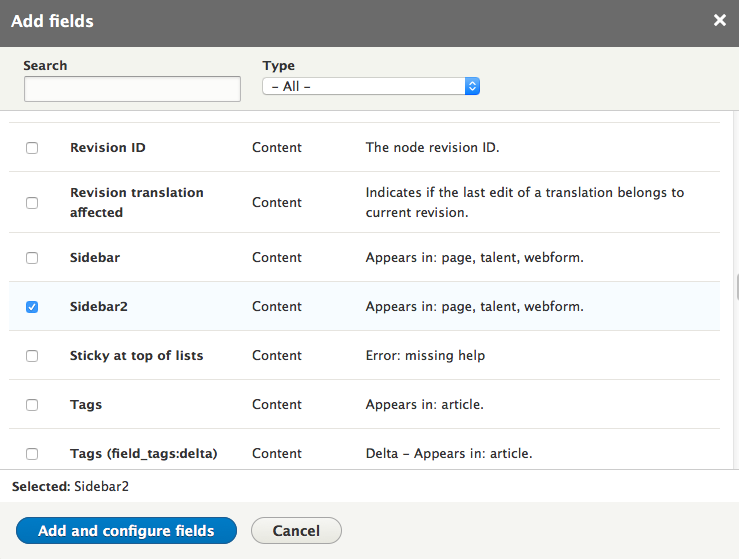 add drupal 8 view step 5