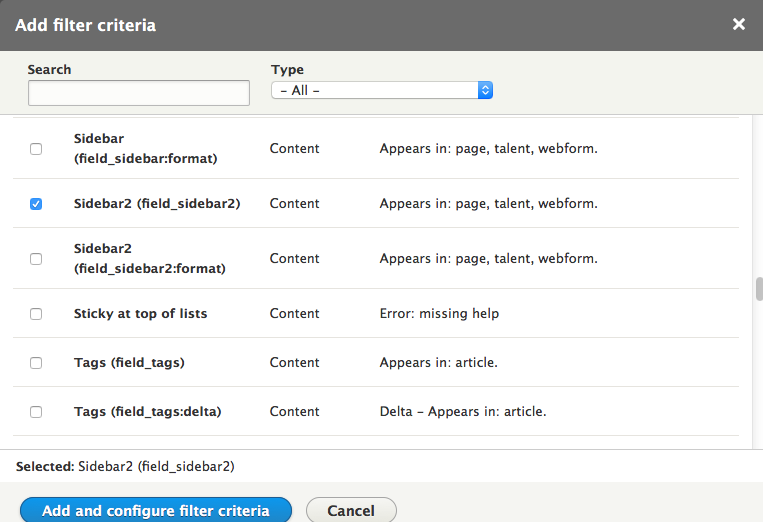 add drupal 8 view step 7