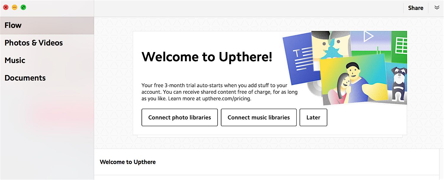 Welcome upthere